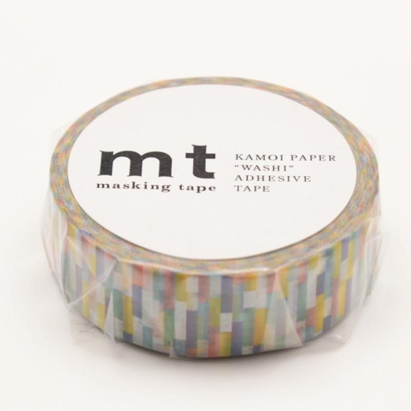 MT washi tape block blue