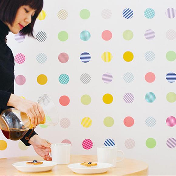 MT casa washi Seal shocking red dots