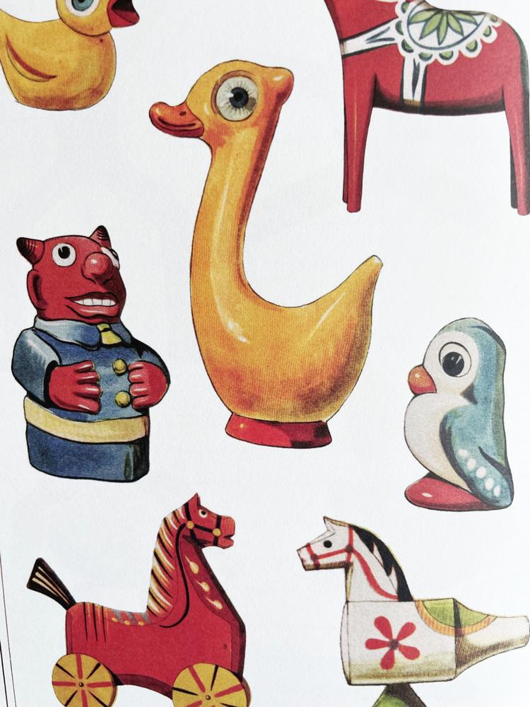 Geïllustreerd notebook Les jouets populaires