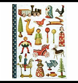Gwenaëlle Trolez Créations Geïllustreerd notebook Les jouets populaires