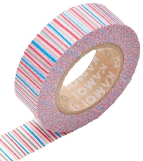 MT washi tape shima aka