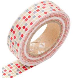 MT  MT washi tape tile red