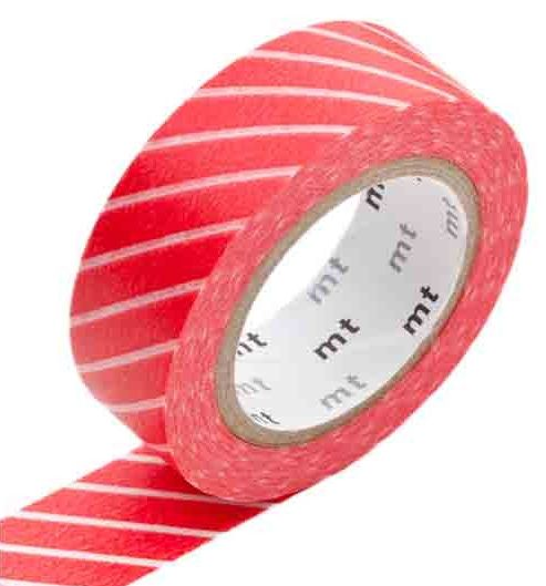MT washi tape stripe red