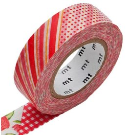 MT  MT masking tape ex flower red
