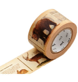 MT  MT washi tape ex encyclopedia animal
