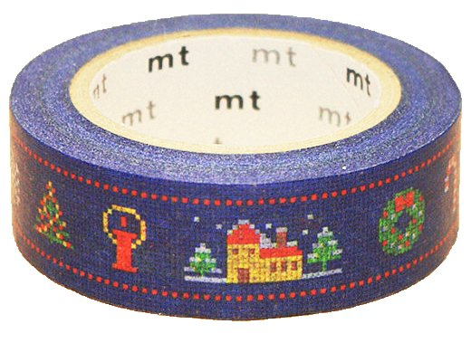 MT masking tape Kerst stitch