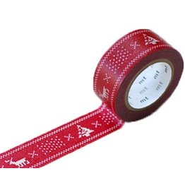MT  MT washi tape Kerst knit red