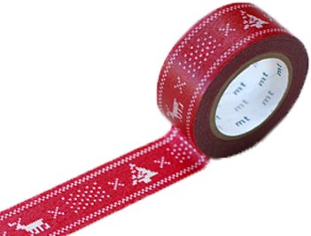MT masking tape Kerst knit red