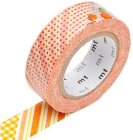 MT  MT masking tape ex flower orange
