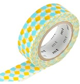MT washi tape square yellow