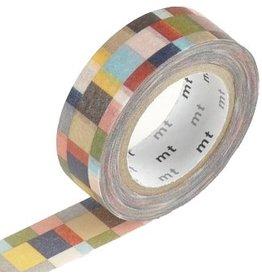 MT  MT washi tape mosaic greyish