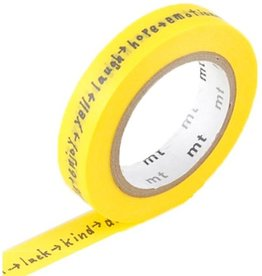 MT  MT masking tape shiritori yellow