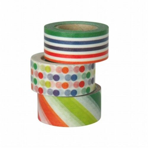 MT washi tape kids kleurige lijntjes