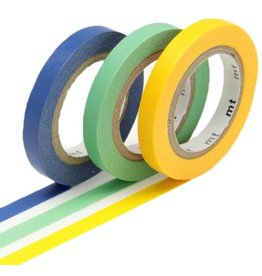 MT  MT washi tape slim set monocolor