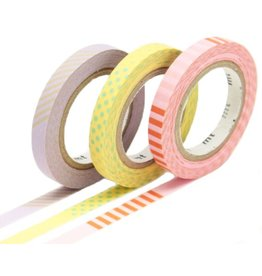 MT  MT washi tape slim set deco pastel