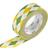 MT masking tape argyle green