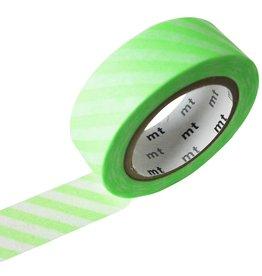 MT  MT washi tape stripe shocking green