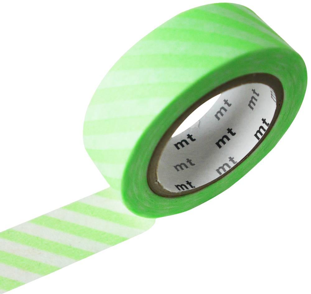 MT washi tape stripe shocking green