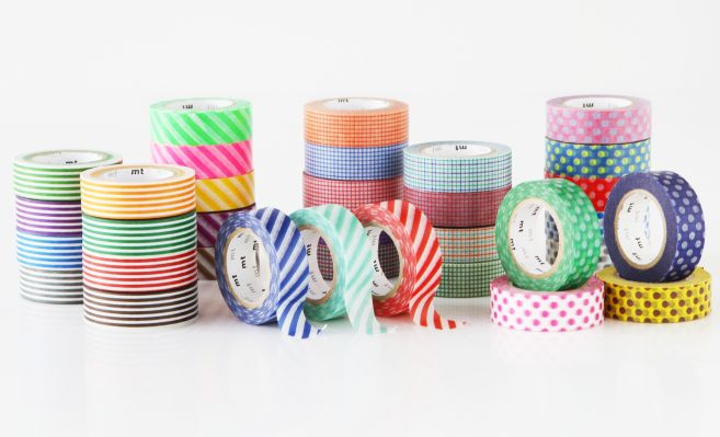 MT masking tape border bright orange