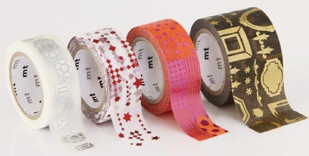 MT masking tape fab black animals