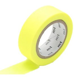 MT  MT washi tape shocking geel