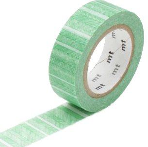 MT masking tape script border green