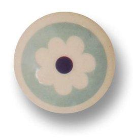 Aspegren Porseleinen knopje flower blue