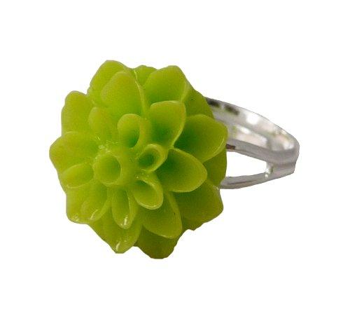 Ring met appeltjesgroene chrysant