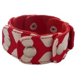 Huisteil creaties Snapper armband Huisteil hearts