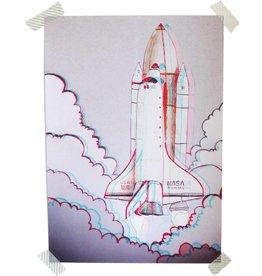 De krantenkapper 3D print spaceshuttle