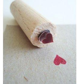 De krantenkapper Stempel hartje met stempelkussentje