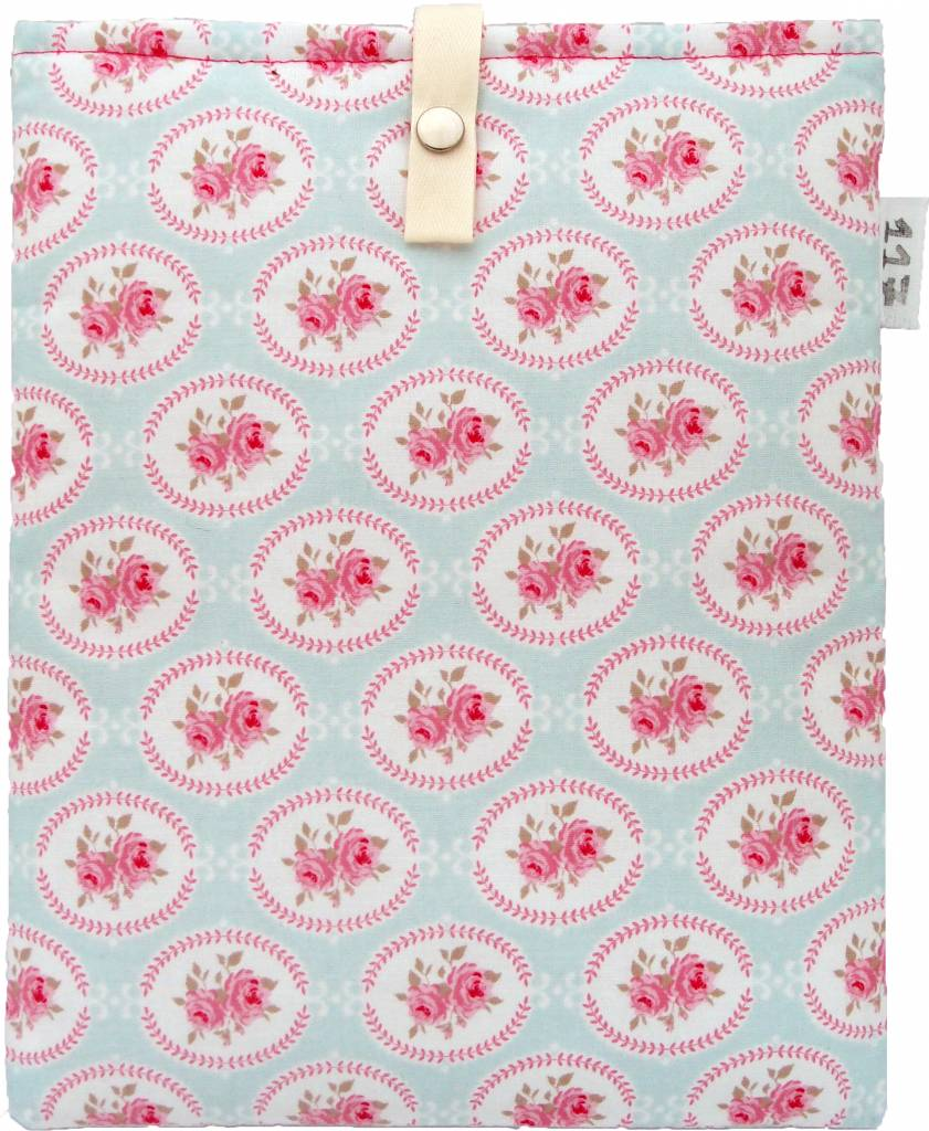 iPad sleeve brocante roos