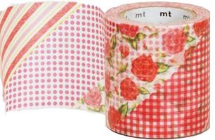MT casa washi tape Flower red 50 mm