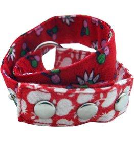 Huisteil creaties Wrap me armband Huisteil rood
