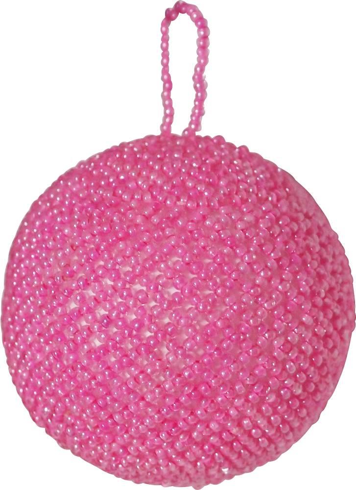 Kerstbal beads roze