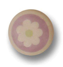 Aspegren Porseleinen knopje flower rosa