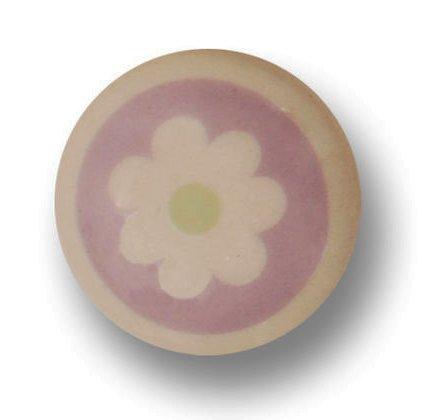 Porseleinen knopje flower rosa