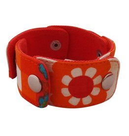Huisteil creaties Snapper armband Huisteil happy orange