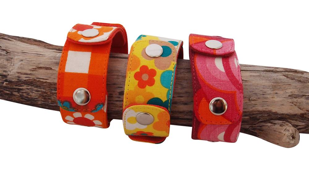 Snapper armband Huisteil happy orange
