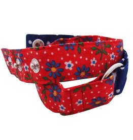 Huisteil creaties Wrap me armband Huisteil flowerdots