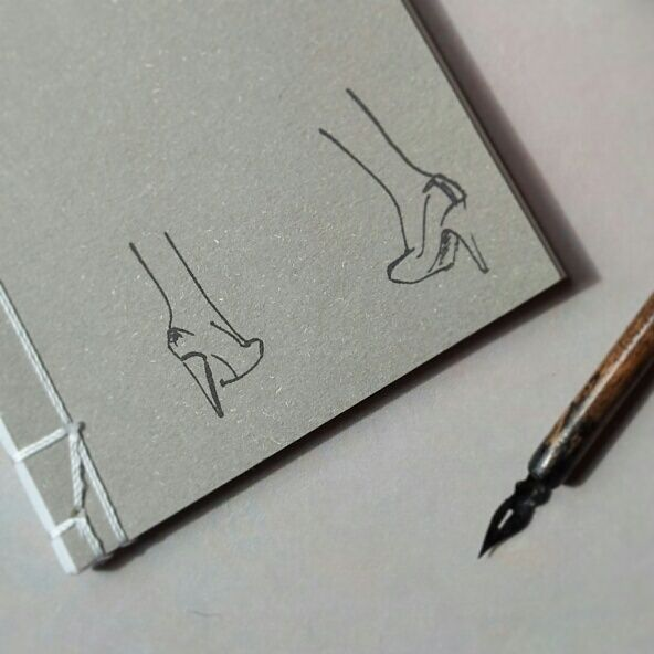 Notebook high heels