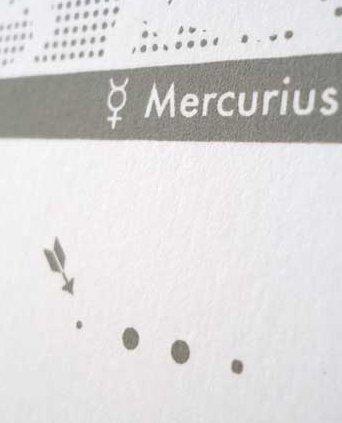 Zeefdruk Mercurius