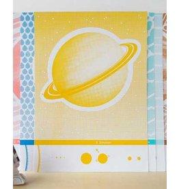 De krantenkapper Zeefdruk Saturnus