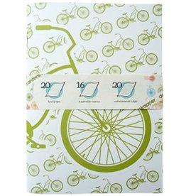 De krantenkapper Schrift beach bike