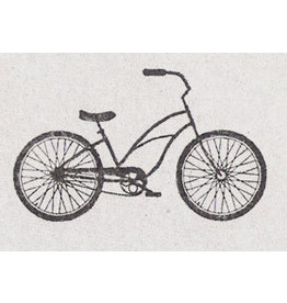 De krantenkapper Stempel beach bike