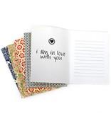 {Love letter} blue & white stripe