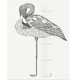 De krantenkapper Stempel Flamingo