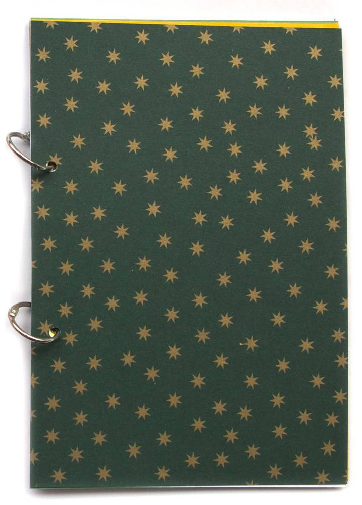 {Joy} christmas journal north star green