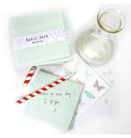 Bl-ij Notepad grid green