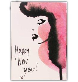 Tessa M. de Graaf Happy new year kaart